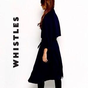 Whistles   Belted Black Trench Coat   Large